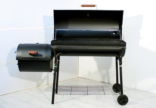 Smoker BBQ Grill Grillwagen Holzkohlegrill 95 cm Rost XXL