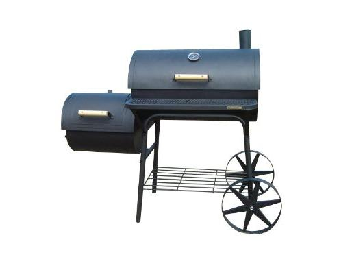 Profi XXL 90kg Smoker BBQ Grillwagen Front