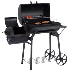 Ultranatura Denver Smoker Grill offen mit Grillgut